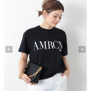 DEUXIEME CLASSE - 【AMERICANA/アメリカーナ】 AMRCN Tシャツ ブラック