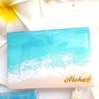 海の絵 海レジン 小物入れ 名刺入れ ラニカイ Aloha(その他)