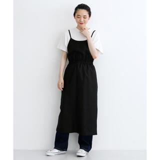 メルロー(merlot)のmerlot 裾スリットキャミワンピース ブラック(ロングワンピース/マキシワンピース)