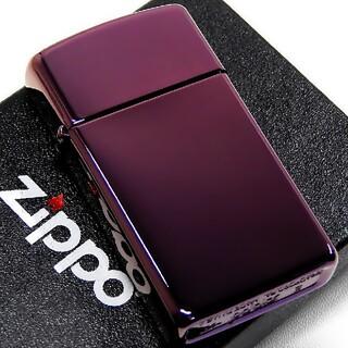 ジッポー(ZIPPO)の(送料込み)ZIPPO◇PVD・アビス/パープル◇新品◇スリムジッポ(タバコグッズ)