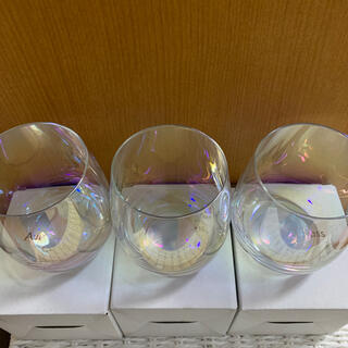 スリーコインズ(3COINS)の新品未使用 オーロラグラス 3個セット(グラス/カップ)
