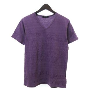 BURBERRY BLACK LABEL - バーバリーブラックレーベル Tシャツ カットソー 半袖 Vネック  2 IBO5