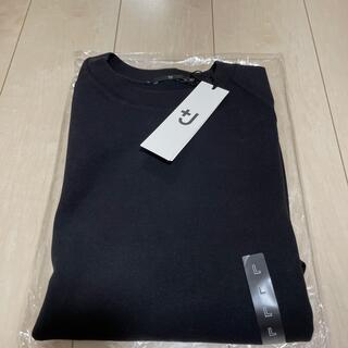 UNIQLO - ユニクロ プラスJ +J  ドライスウェットシャツ ブラック Lサイズ