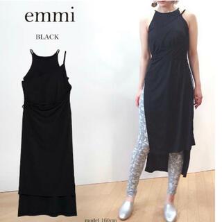emmi atelier - emmi ヨガウェア ブラトップ ワンピース 黒