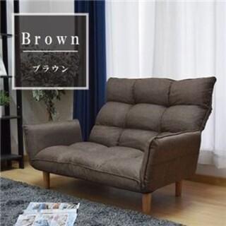 ハイバック カウチソファー 【ブラウン】 幅116〜159cm 脚付き(その他)