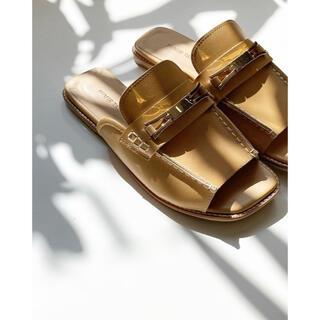 ステュディオス(STUDIOUS)のFUMIE TANAKA/フミエタナカ bit loafer sandal(ローファー/革靴)
