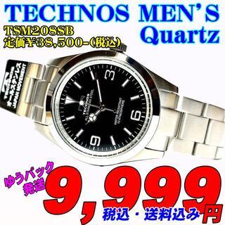 テクノス(TECHNOS)のテクノス 紳士 クォーツ TSM208SB 定価¥38,500- (税込) 新品(腕時計(アナログ))