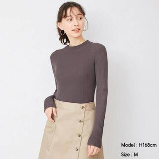 GU - GU リブハイネックセーター(長袖)  ブラウン Mサイズ タグあり