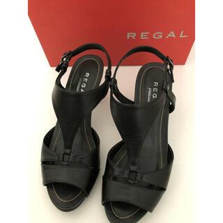 REGAL - 【美品】REGAL リーガル サンダル ブラック 22.5cm