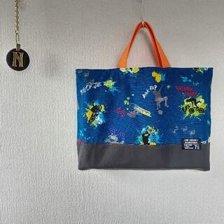 お値下げ¥1850→¥1750#スプラッシュ×蛍光オレンジ レッスンバッグ(バッグ/レッスンバッグ)