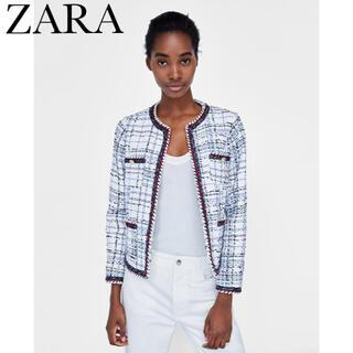 ZARA - [ZARA] 春 夏 マリン風 ツイード ジャケット