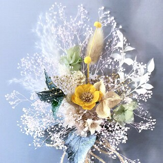 ♥ ドライフラワーミニ花束 *ミニスワッグ(ドライフラワー)
