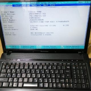Lenovo - レノボ G560  ジャンク品 ノートパソコン 電源コードあり