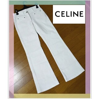 celine - CELINE セリーヌ パンツ オフホワイト 36 コットン98%