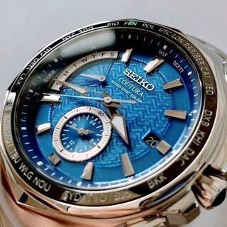セイコー(SEIKO)の【新品】セイコー 電波ソーラー SEIKO 腕時計★メンズ サファイアブルー(腕時計(デジタル))