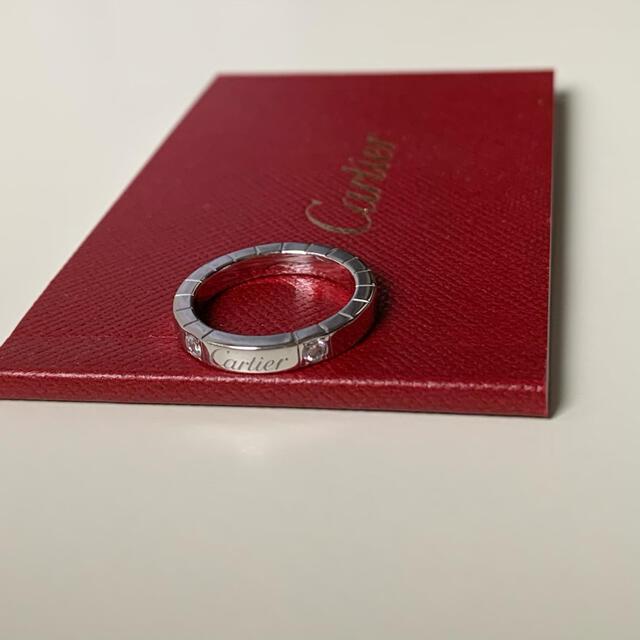 Cartier(カルティエ)のPC2サマ Cartierラニエール リング WG 2Pダイヤ 50 レディースのアクセサリー(リング(指輪))の商品写真