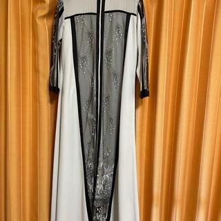 mame - 新品 murral framed flowers dress