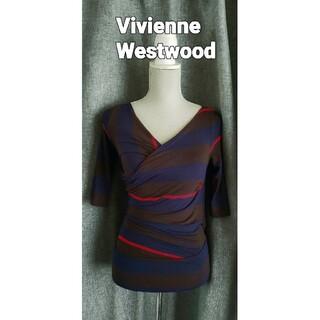 ヴィヴィアンウエストウッド(Vivienne Westwood)の大変美品 ヴィヴィアンウエストウッド ボーダーのジャージブラウス(シャツ/ブラウス(長袖/七分))