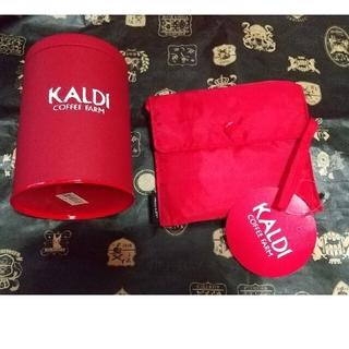 カルディ(KALDI)のカルディ キャニスター缶、コーヒー缶、エコバッグ(容器)