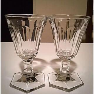 Baccarat - 1841年〜オールドバカラ 【Conique No.306】ワイングラス 2脚③