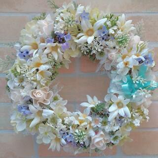 フラワーリース 玄関リース 造花リース