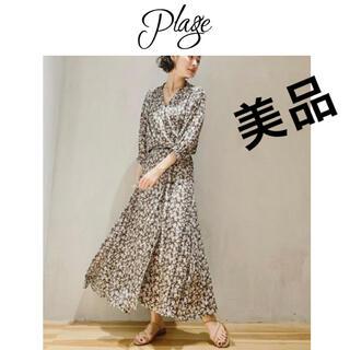 Plage - プラージュ olive wrapドレス オリーブフラワーワンピース花柄plage