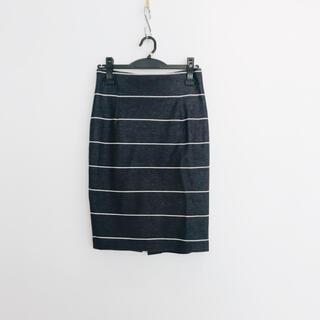 ラウンジドレス(Loungedress)の⭐️ Loungedress ラウンジドレス デニム風 ストライプ スカート(ひざ丈スカート)