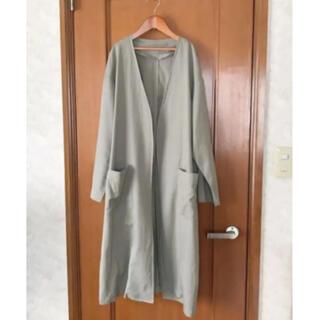 ジーユー(GU)のジーユーのリネンブレンドの羽織りコート(ノーカラージャケット)