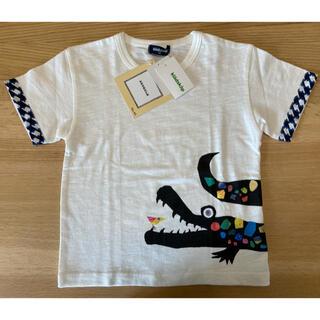 kladskap - 【新品】クレードスコープ  Tシャツ コロボックル わに 白 110