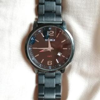 アラミス(Aramis)の☆値下げしました☆アラミス 腕時計 ブラックIPウォッチ(金属ベルト)