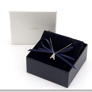 AHKAH - 美品 K18YG アーカー イニシャルA ネックレス ダイヤ AHKAH R22