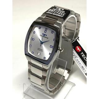 テクノス(TECHNOS)のテクノス  超硬タングステン   サファイアガラス  シルバー(腕時計(アナログ))