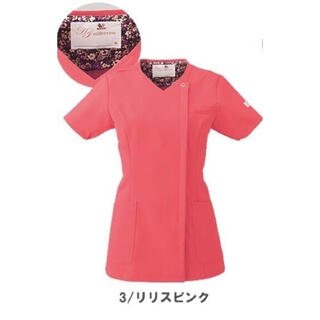 ワコール(Wacoal)のワコール レディスジップスクラブ 白衣 Lサイズ(Tシャツ(半袖/袖なし))