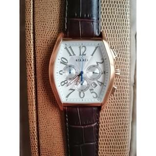 アラミス(Aramis)のアラミス 腕時計 ピンクゴールドウォッチ 値下げしました(レザーベルト)