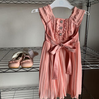 エニィファム(anyFAM)のベビーワンピース✧︎90cmお呼ばれドレス3点セット✧︎靴15cm&靴下(ワンピース)