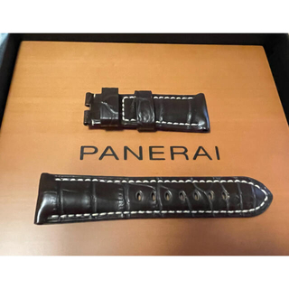 OFFICINE PANERAI - 【新品未使用】パネライ ALLIGATOR SEMIMAT DARK BROWN