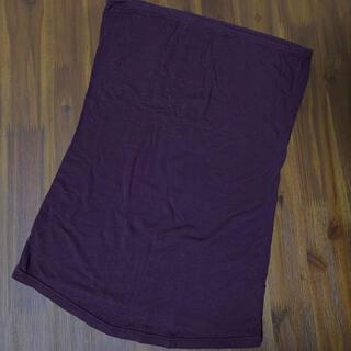 シマムラ(しまむら)のベアトップ チューブトップ インナー 紫 むらさき(ベアトップ/チューブトップ)