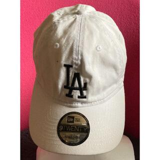 NEW ERA - NEW ERA ニューエラ白カラーでLAのロゴがカッコいいベースボールCAP帽子