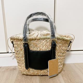 しまむら - 【新品未使用タグ付き】しまむら カゴバッグ ミズクサ2wayバッグ