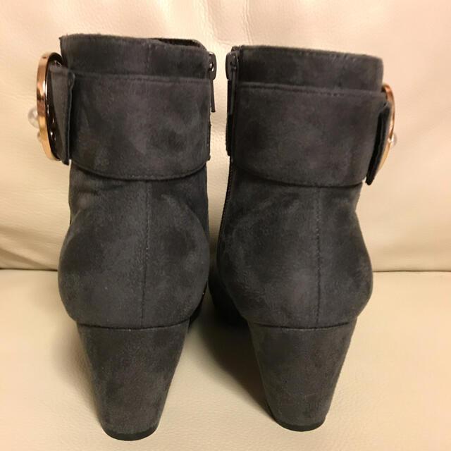 ウィズコレクション◆パールバックルショートブーツ レディースの靴/シューズ(ブーツ)の商品写真