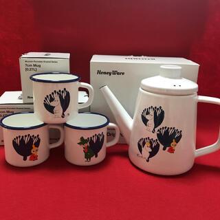 フジホーロー(富士ホーロー)の『新品未使用』ムーミン 富士ホーロー MOOMIN ドリップ ポット&マグカップ(グラス/カップ)