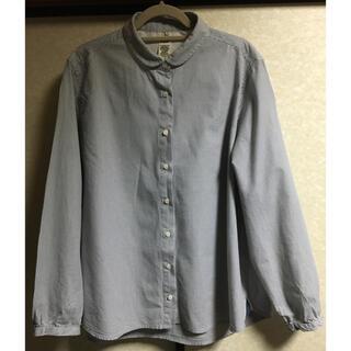 エルビーシー(Lbc)のLBC  美品、丸襟ストライプシャツ(シャツ/ブラウス(長袖/七分))