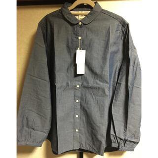 エルビーシー(Lbc)のLBC  タグ付き、新品未使用品  丸襟コットンシャツ(シャツ/ブラウス(長袖/七分))