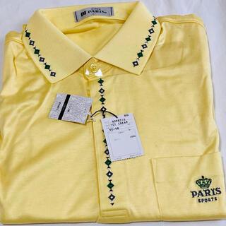 パリス(PARIS)のメンズ Paris ポロシャツ 長袖 新品 Lサイズ イエロー(ポロシャツ)