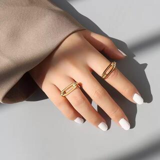エナソルーナ(Enasoluna)のチェーンモチーフリング stainless steel(リング(指輪))