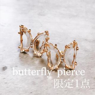 butterfly clear  pierce(ピアス)