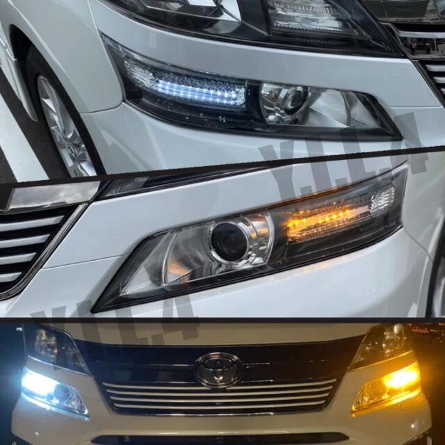 トヨタ ヴェルファイア20系 流れるウインカー シーケンシャルウインカー機能付き 自動車/バイクの自動車(車種別パーツ)の商品写真