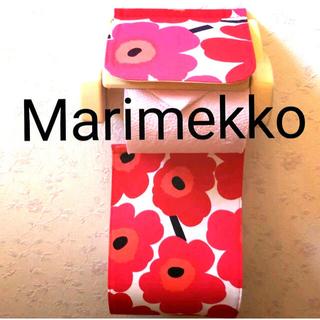 マリメッコ(marimekko)のマリメッコ marimekko トイレットペーパーホルダー 赤 ウニッコ(その他)