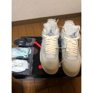 28cm Off-White NIKE WMNS AIR JORDAN 4(スニーカー)
