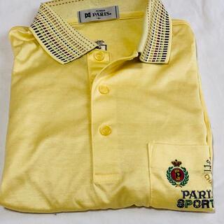 パリス(PARIS)のメンズ Paris ポロシャツ 長袖 未使用 Mサイズ イエロー(ポロシャツ)